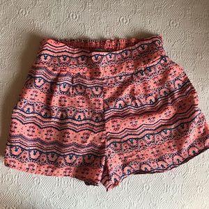 Tribal Print Hi Waist Silky Shorts